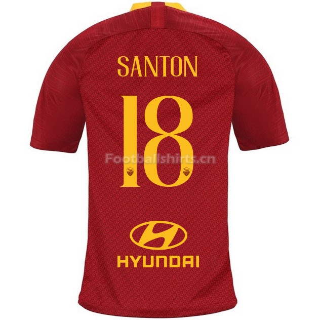 AS Roma SANTON 18 Home Soccer Jersey 2018/19