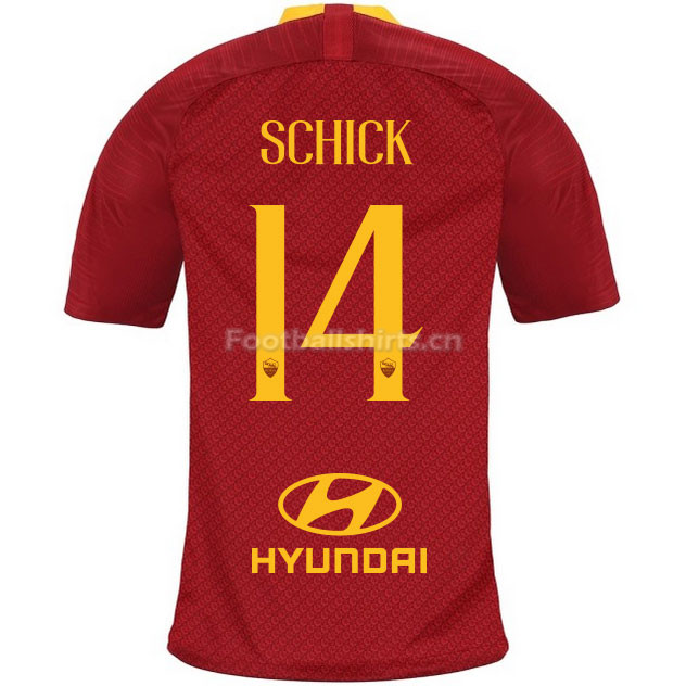 AS Roma SCHICK 14 Home Soccer Jersey 2018/19