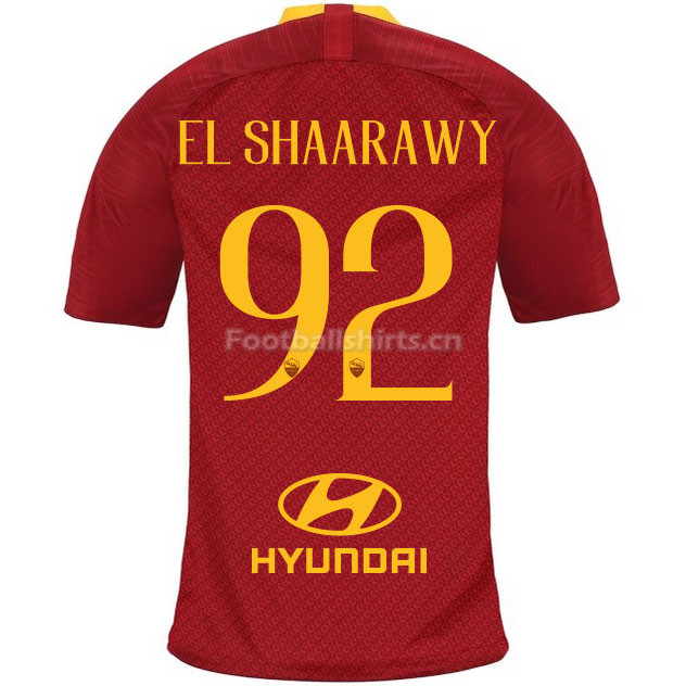 AS Roma EL SHAARAWY 92 Home Soccer Jersey 2018/19