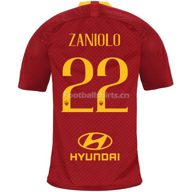AS Roma ZANIOLO 22 Home Soccer Jersey 2018/19