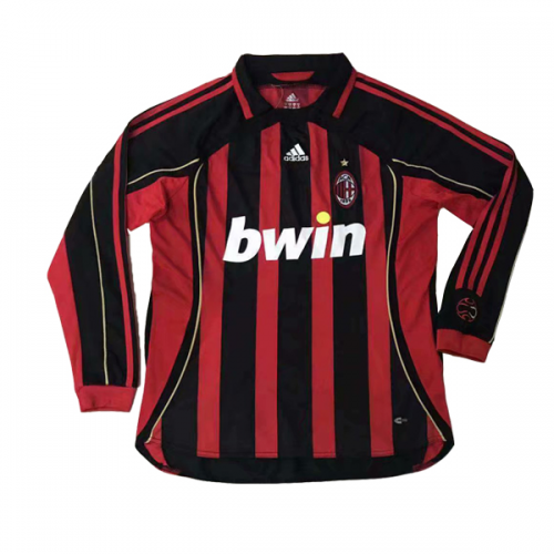 Retro AC Milan Home Soccer Jersey Long Sleeve 06/07