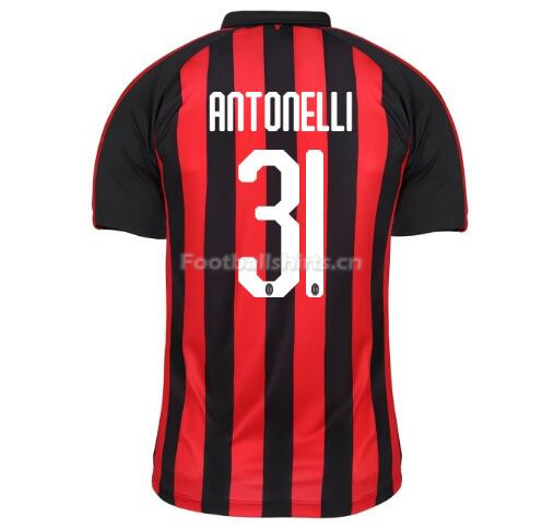 AC Milan ANTONELLI 31 Home Soccer Jersey 2018/19