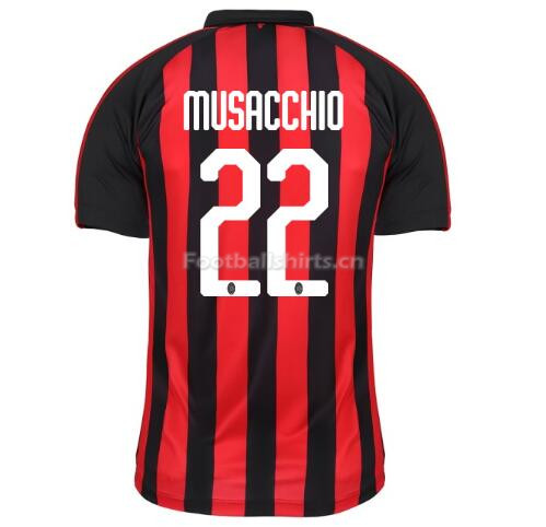 AC Milan MUSACCHIO 22 Home Soccer Jersey 2018/19