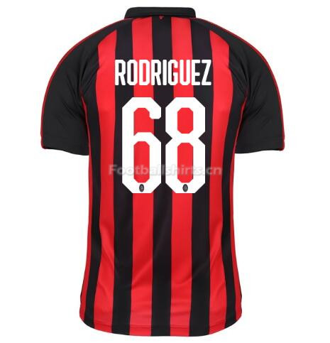 AC Milan RODRIGUEZ 68 Home Soccer Jersey 2018/19