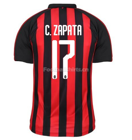 AC Milan C. ZAPATA 17 Home Soccer Jersey 2018/19
