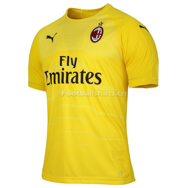AC Milan Yellow Goalkeeper Soccer Jersey 2018/19
