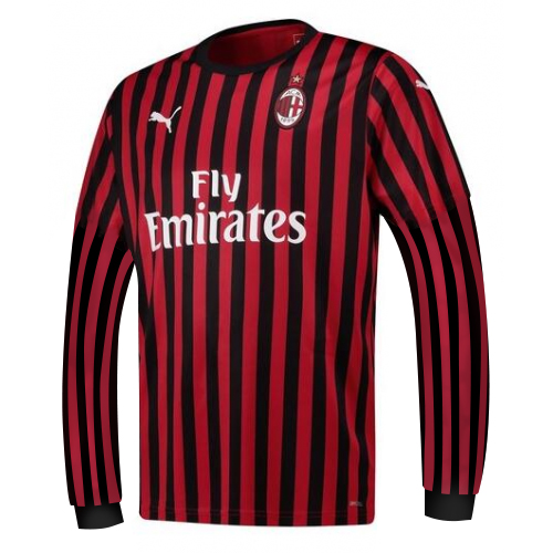 AC Milan Home Soccer Jersey Long Sleeve 2019/20
