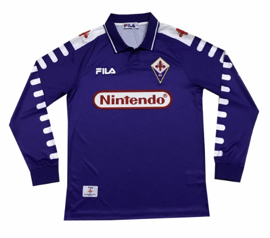 Retro Fiorentina Home Soccer Jersey Long Sleeve 98/99