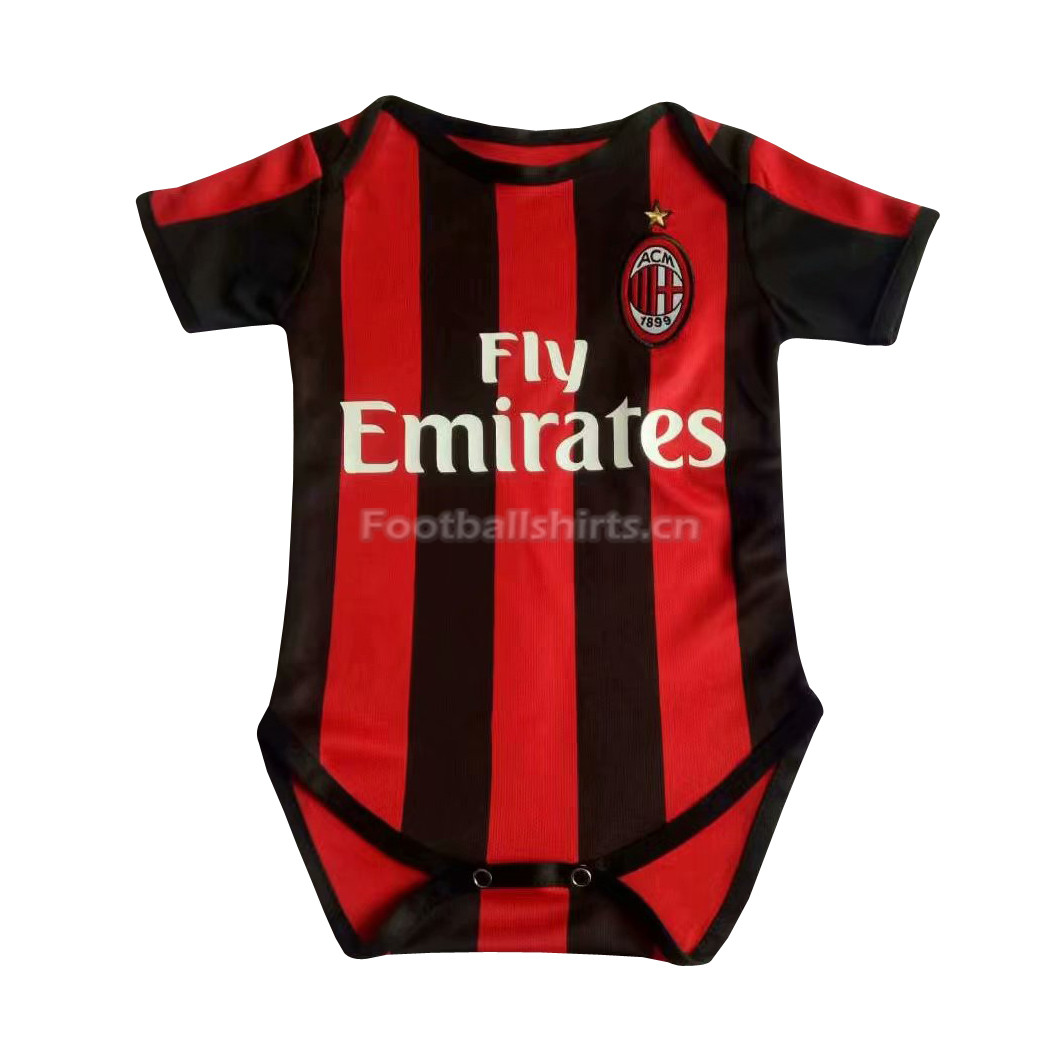 AC Milan Home Infant Soccer Jersey Suit 2018/19