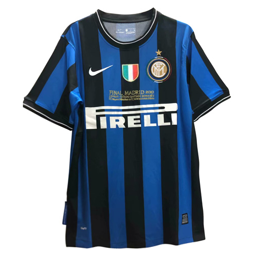 Retro Inter Milan Home Soccer Jersey UCL Final With Italian Patch 09/10