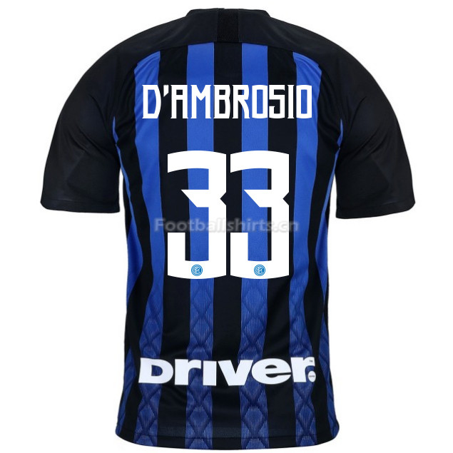 Inter Milan D'AMBROSIO 33 Home Soccer Jersey 2018/19
