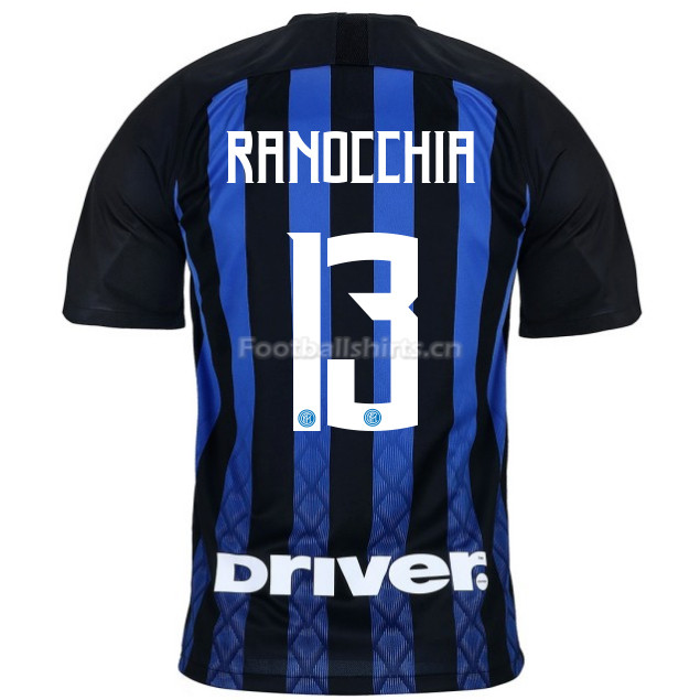 Inter Milan RANOCCHIA 13 Home Soccer Jersey 2018/19