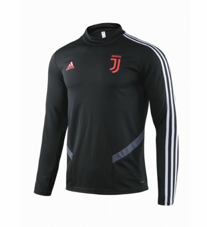Juventus Tracksuit Top Black Grey 2019/20