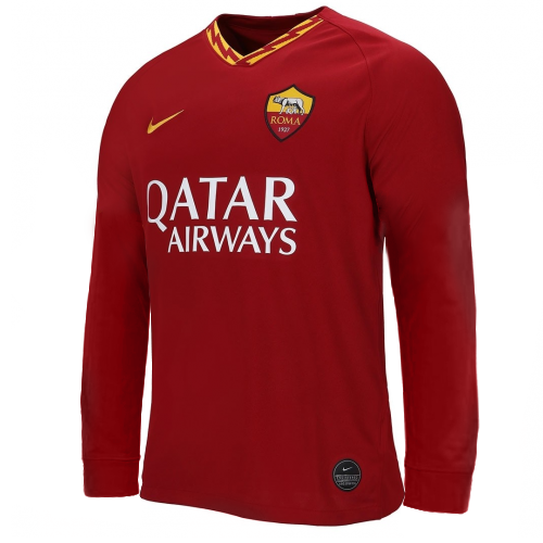 AS Roma Home Soccer Jersey Long Sleeve 2019/20