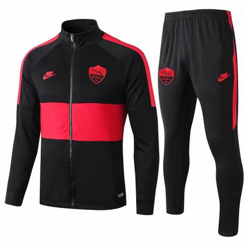 Roma Training Jacket Suits Black Red 2019/20