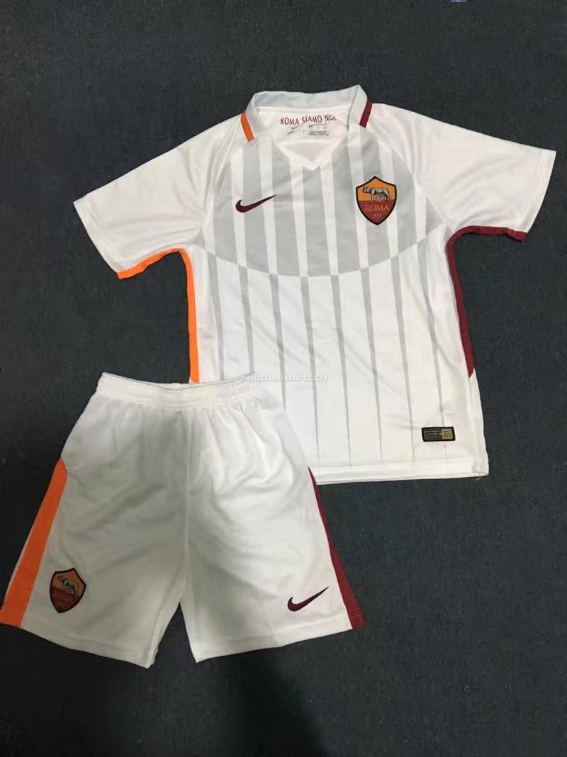 Kids AS Roma Away Soccer Jersey Kit Shirt + Shorts 2017/18