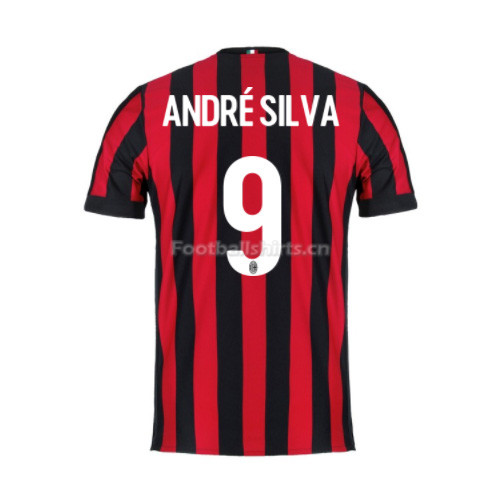AC Milan Home Andre Silva #9 Soccer Jersey 2017/18