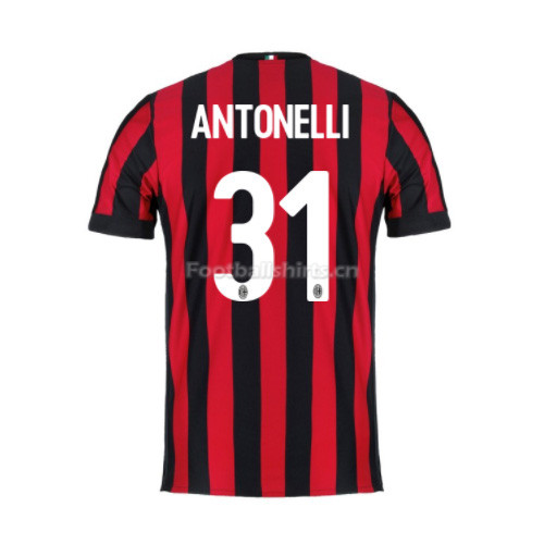 AC Milan Home Antonelli #31 Soccer Jersey 2017/18