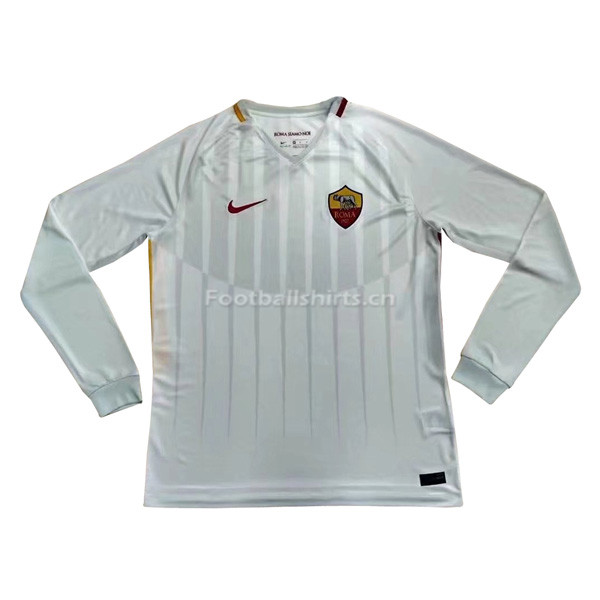 AS Roma Away Long Sleeve Soccer Jersey 2017/18