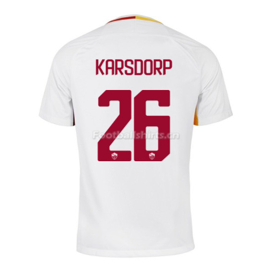 AS ROMA Away KARSDORP #26 Soccer Jersey 2017/18
