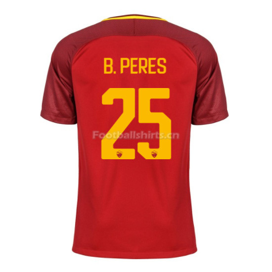 AS ROMA Home B. PERES #25 Soccer Jersey 2017/18