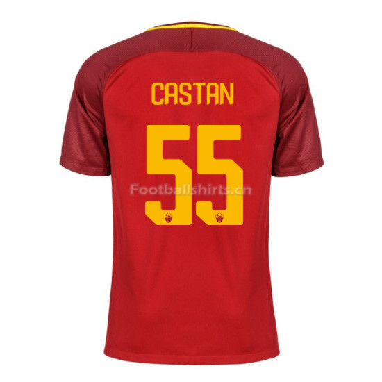 AS ROMA Home CASTAN #55 Soccer Jersey 2017/18