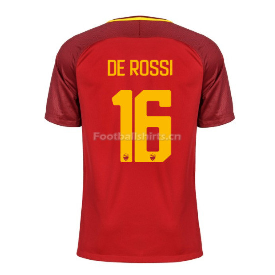 AS ROMA Home DE ROSSI #16 Soccer Jersey 2017/18