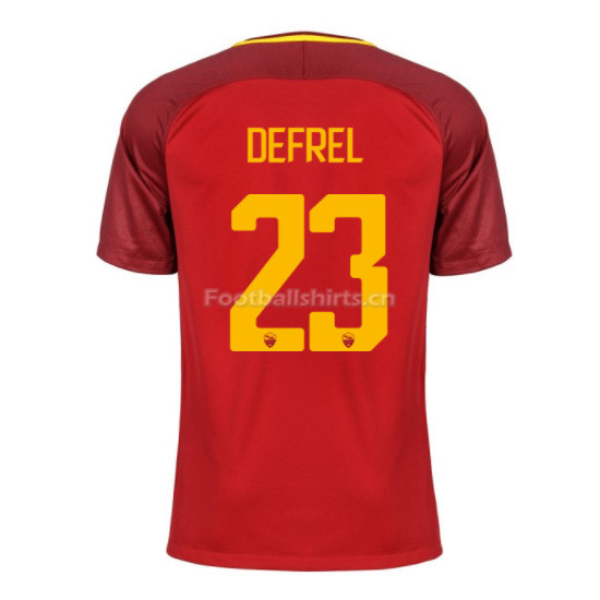 AS ROMA Home DEFREL #23 Soccer Jersey 2017/18