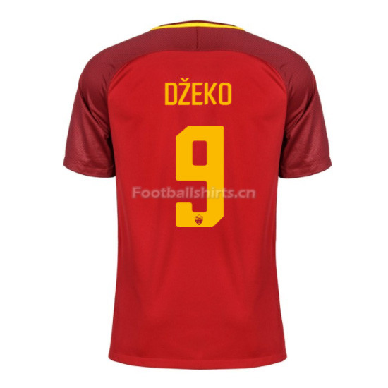 AS ROMA Home DŽEKO #9 Soccer Jersey 2017/18