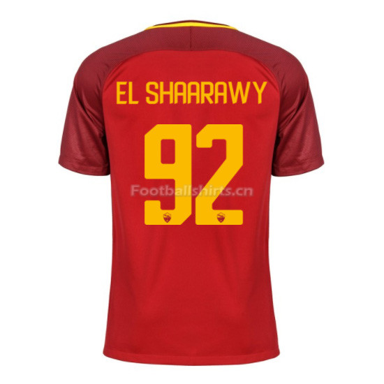 AS ROMA Home EL SHAARAWY #92 Soccer Jersey 2017/18