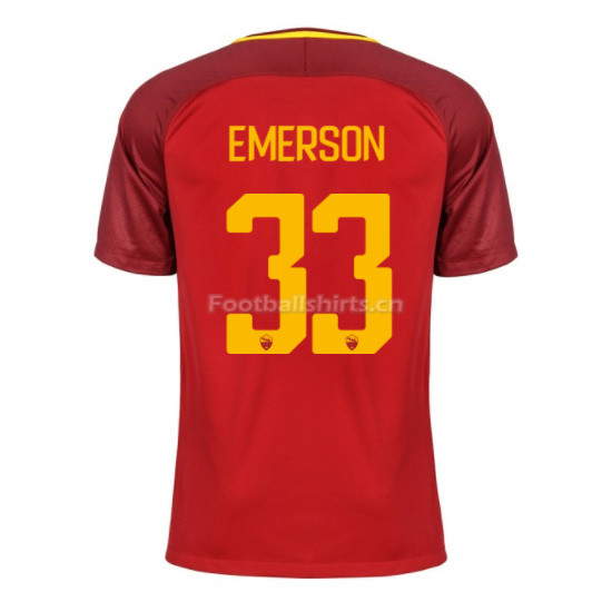 AS ROMA Home EMERSON #33 Soccer Jersey 2017/18