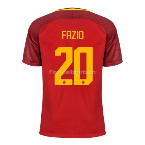 AS ROMA Home FAZIO #20 Soccer Jersey 2017/18