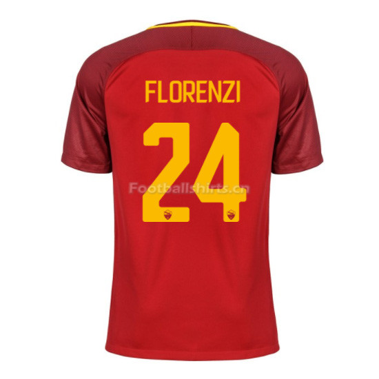 AS ROMA Home FLORENZI #24 Soccer Jersey 2017/18