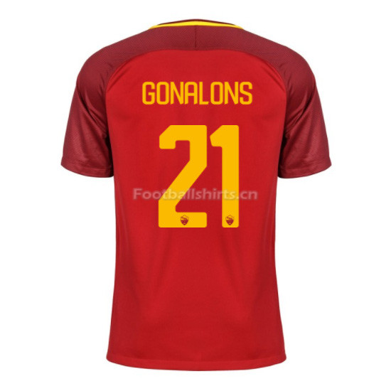 AS ROMA Home GONALONS #21 Soccer Jersey 2017/18