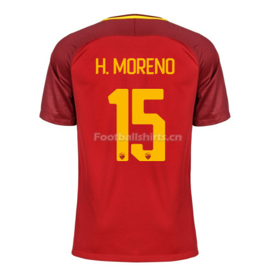 AS ROMA Home H. MORENO #15 Soccer Jersey 2017/18