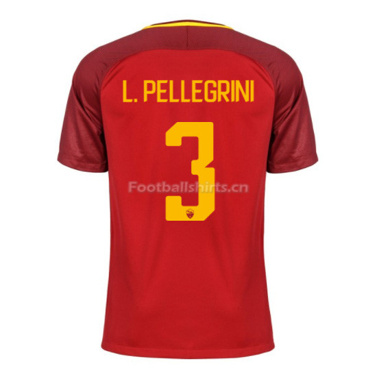 AS ROMA Home L. PELLEGRINI #3 Soccer Jersey 2017/18