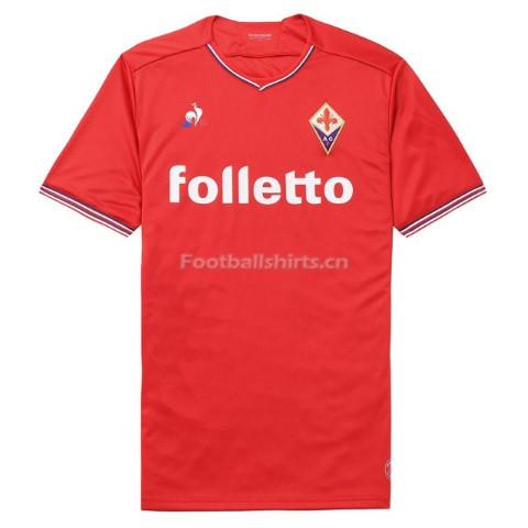 Fiorentina Away Red Soccer Jersey 2017/18