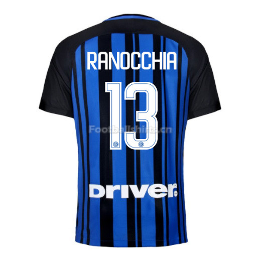 Inter Milan Home RANOCCHIA #13 Soccer Jersey 2017/18