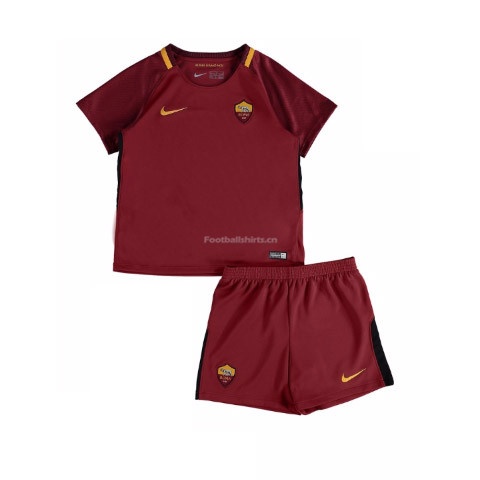 Kids AS Roma Home Kit Shirt + Shorts 2017/18