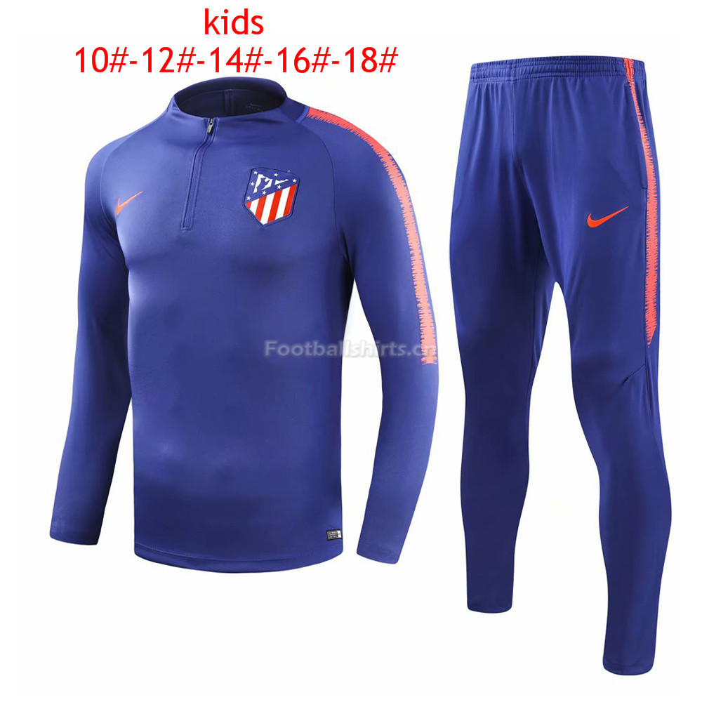 Kids Atletico Madrid Blue Training Suit 2018/19