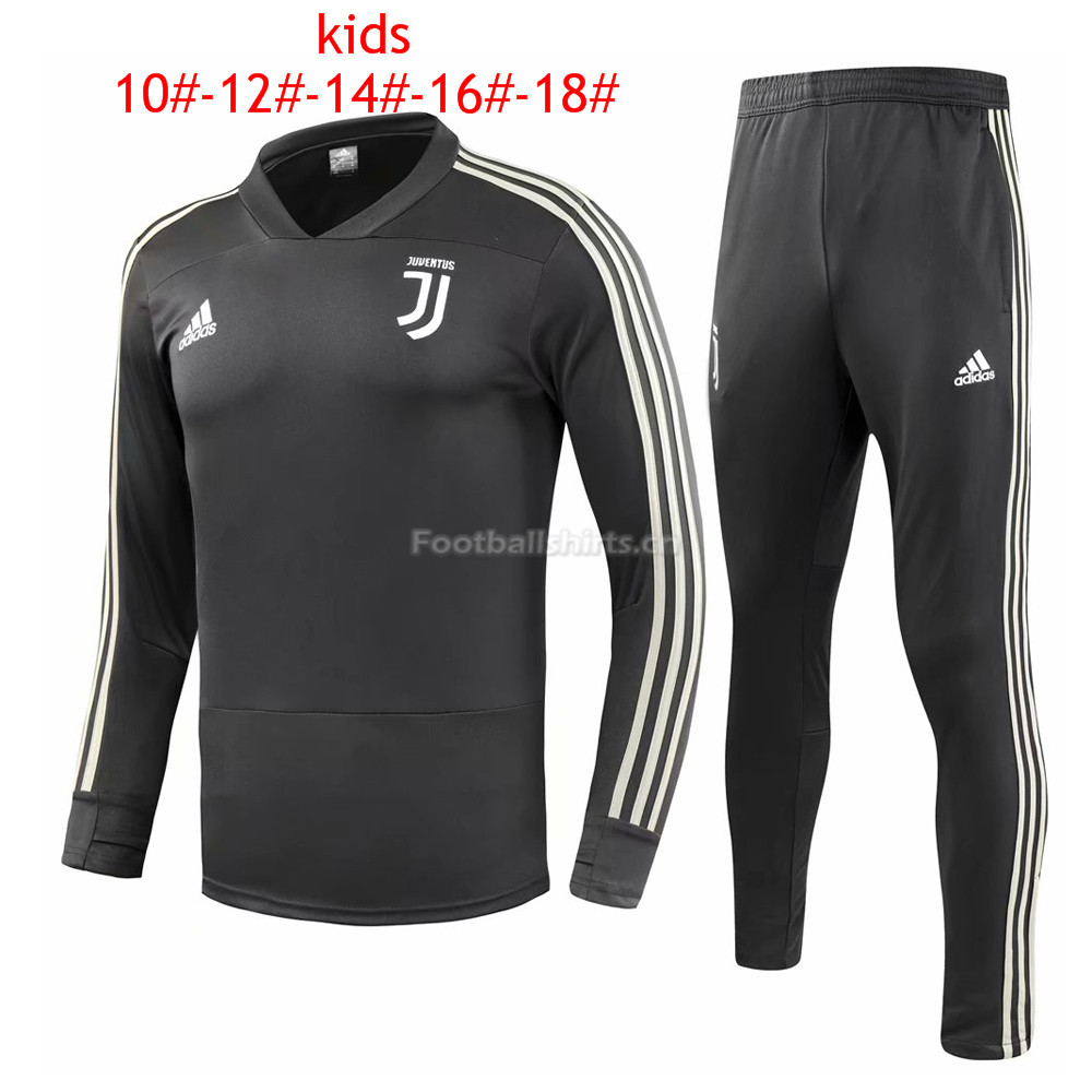 Kids Juventus Black Training Suit 2018/19