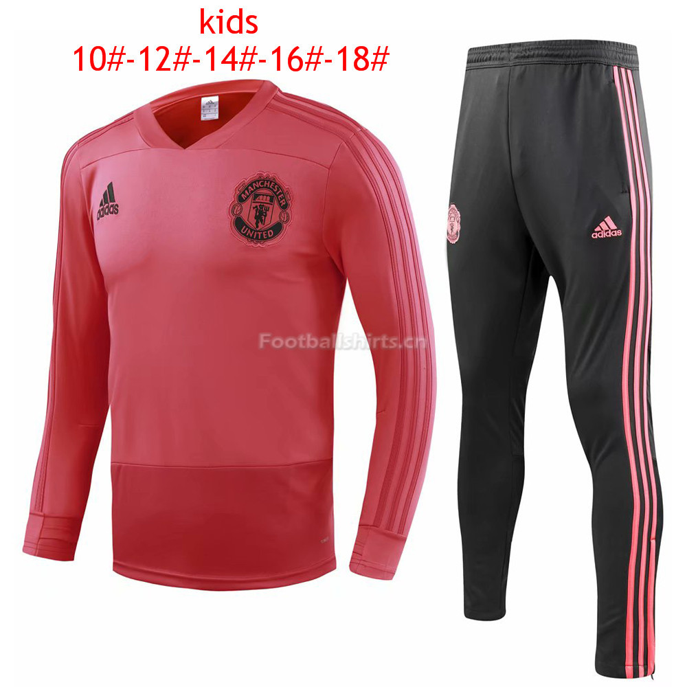 Kids Manchester United Red Training Suit 2018/19