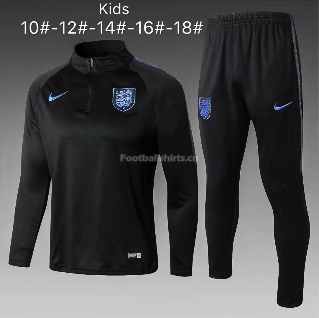 Kids England FIFA World Cup 2018 Black Training Suit