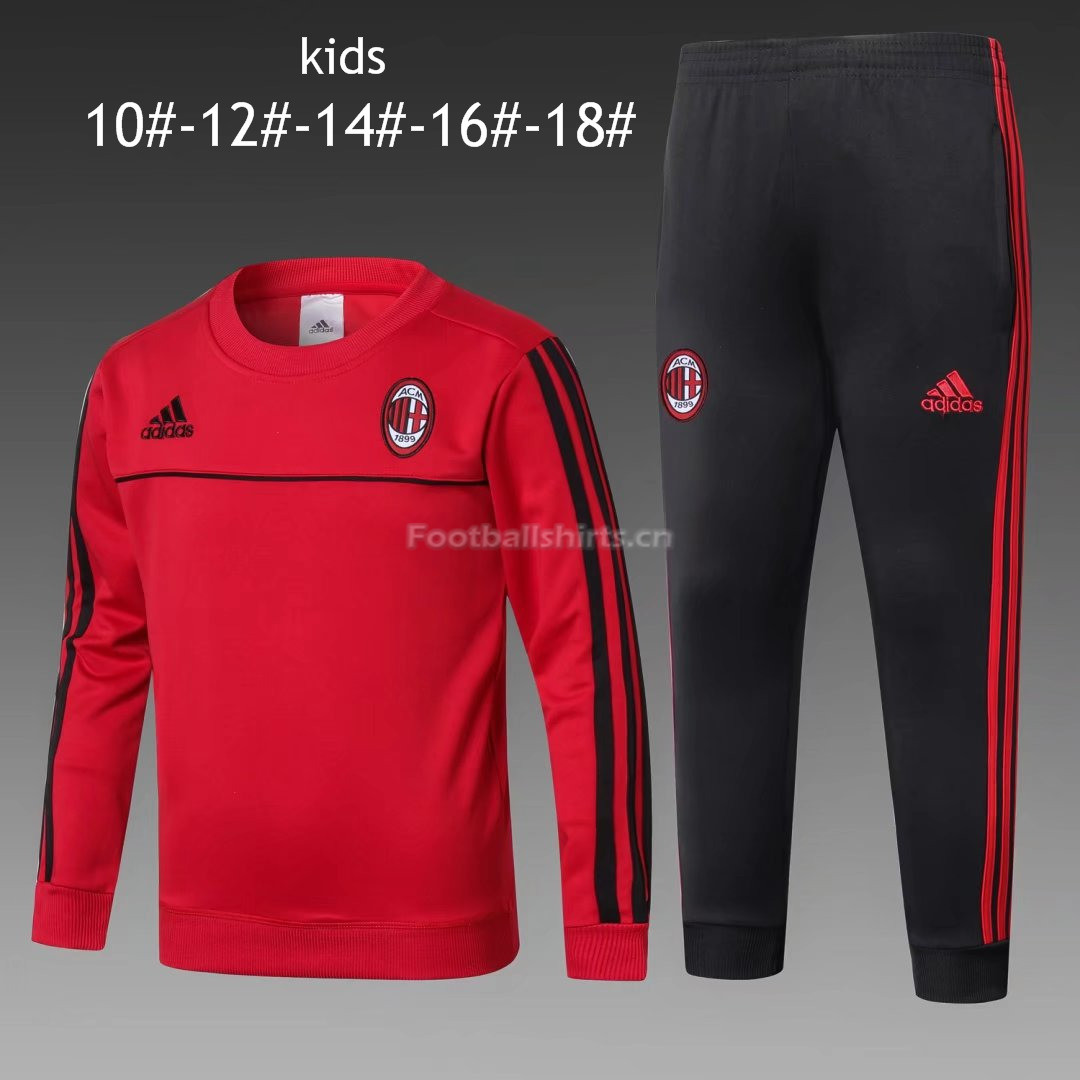 Kids AC Milan Training Suit O'Neck Red 2017/18