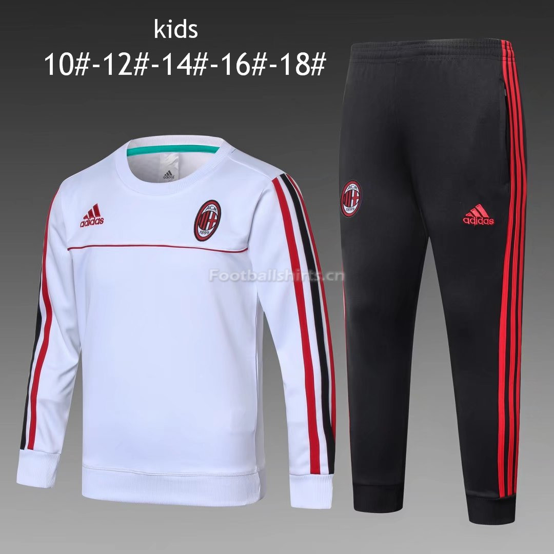 Kids AC Milan Training Suit O'Neck White 2017/18