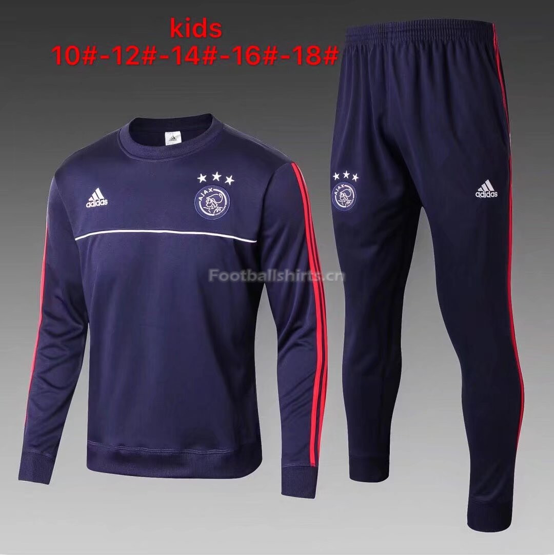Kids Ajax Training Suit O'Neck Royal Blue 2017/18