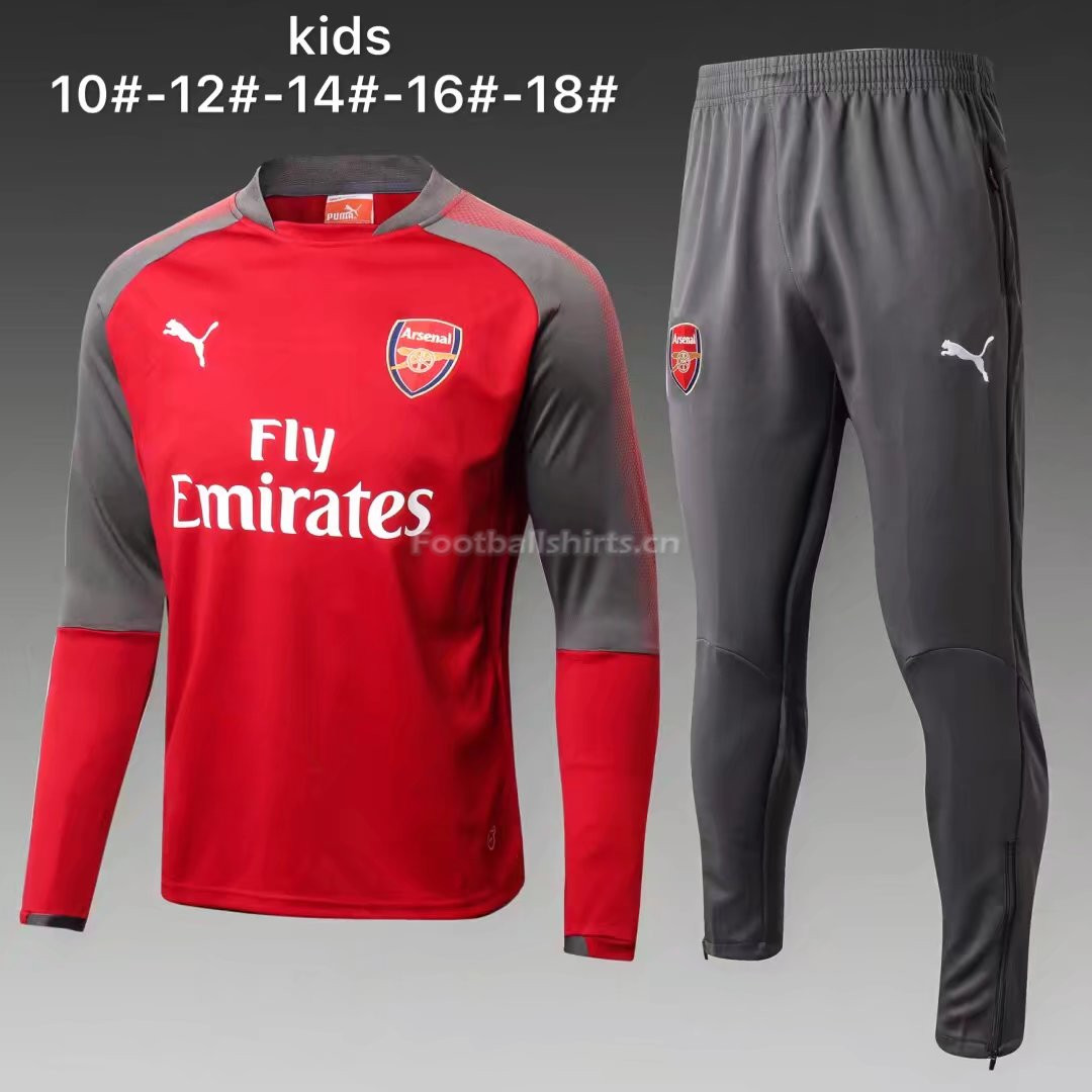 Kids Arsenal Training Suit O'Neck Red 2017/18