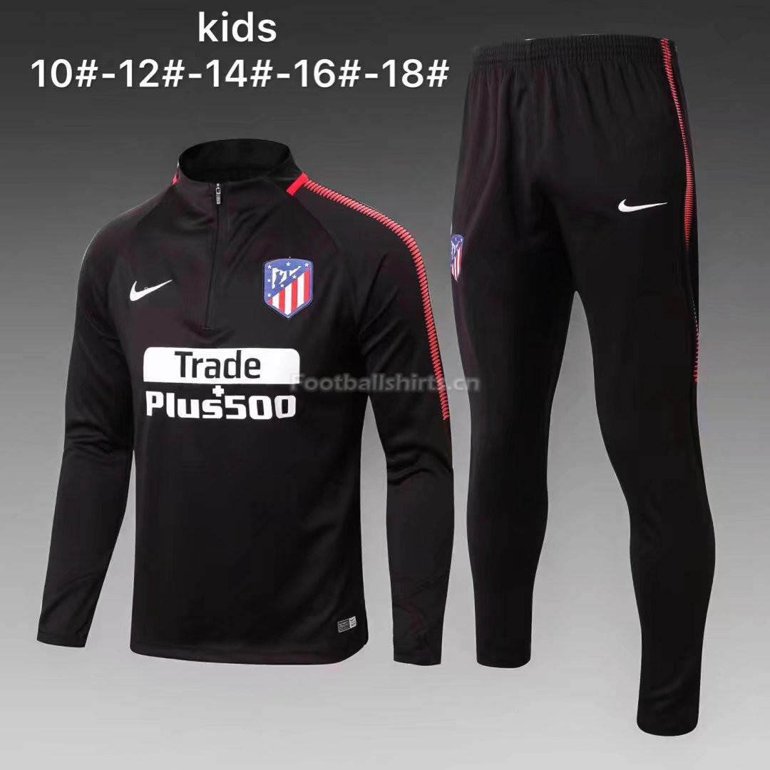 Kids Atletico Madrid Training Suit Black 2017/18