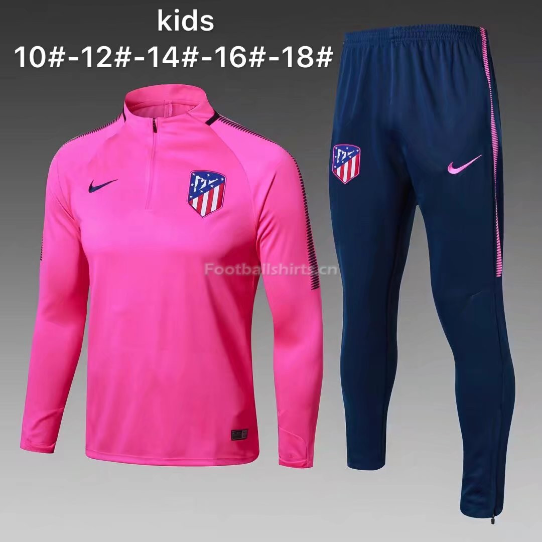 Kids Atletico Madrid Training Suit Pink 2017/18