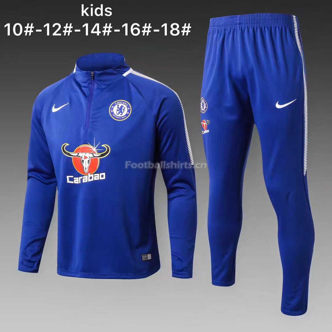 Kids Chelsea Training Suit Blue 2017/18